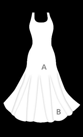 Vestido de ensayo para baile flamenco con godets E3693