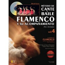 19596 David Leiva - Métdo de cante y baile flamenco y su acompañamiento. Voz y guitarra Vol 4 (Libro+CD)