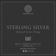 25791 Knobloch Sterling Silver QZ Nylon Treble Set Tensión Media