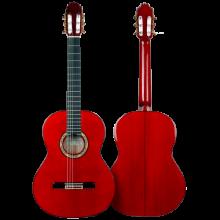 HERMANOS SANCHIS LOPEZ GUITARRA FLAMENCA CIPRÉS MODELO 1F EXTRA color rojo