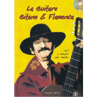 12813 Claude Worms - La guitare gitane & flamenca Vol 2. A compás por medio