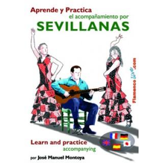 16426 José Manuel Montoya - Aprende y practica el acompañamiento por Sevillanas. Guitarra Flamenca
