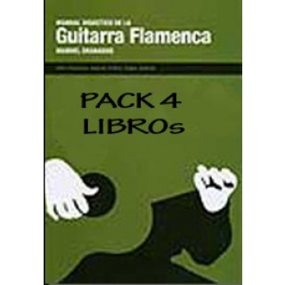 19401 Manuel Granados - Manual didáctico de la guitarra flamenca. Pack. Vol 1, 2, 3 y 4