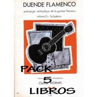 19403 Claude Worms - Duende flamenco. Antología metódica de la guitarra flamenca. Bulería. PACK. Vol 2A, B, C, D y E
