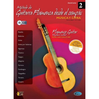 19975 David Leiva - Método de guitarra flamenca desde el compás Vol. 2