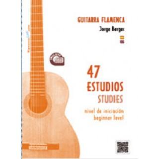 20430 Jorge Berges - 47 estudios para Guitarra Flamenca