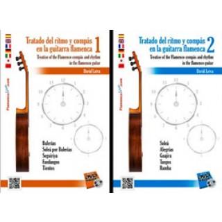 22092 David Leiva - Tratado del ritmo y compás en la guitarra flamenca Vol. 1 y 2 (PACK)
