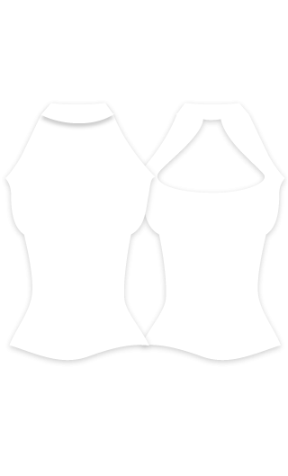 E4556 Camiseta mujer para baile flamenco con cuello alto