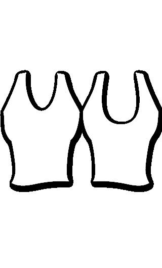 E4558 Camiseta ajustada de tirantes con escote redondo