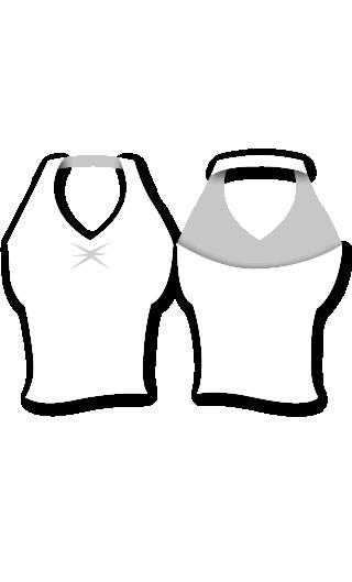 E4550 Camiseta para mujer baile flamenco con escote pico