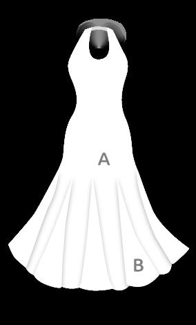 Vestido flamenca con atado al cuello con mucho vuelo y godés estampados E3666
