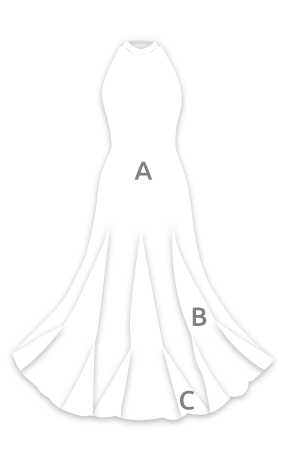 E3796 Vestido flamenca atado al cuello con vuelo capa y media y godés estampados