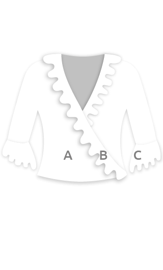 E4259 Chaqueta flamenca para mujer corta de cintura con volantes