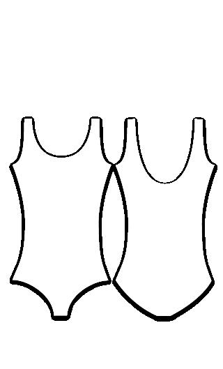 Body sin mangas de danza para niña 1000