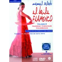 14429 Manuel Salado El baile flamenco Vol 9 Alegrías, Caracoles, Colombianas