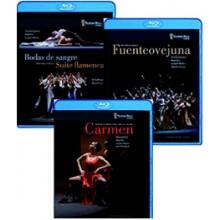 20283 Compañia Antonio Gades - Carmen, Fuenteovejuna, Bodas de sangre (BLUE-RAY PACK 3 DVD)