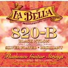 24364 La Bella 820-B Flamenco Nylon Negro. Tensión Media