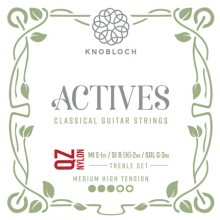 25771 Knobloch Actives QZ Nylon Treble Set Tensión Media-Fuerte