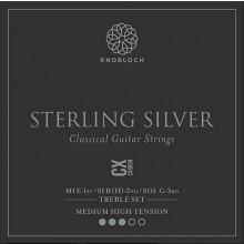 25789 Knobloch Sterling Silver CX Carbon Treble Set Tensión Media-Fuerte
