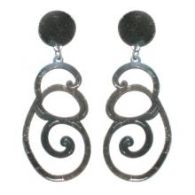 Pendientes para flamenco de metal con decoración espiral