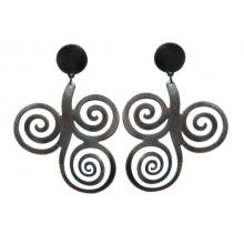 Pendientes para flamenco de metal imitación plata