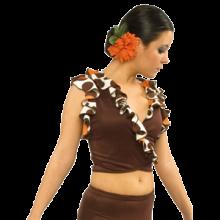 Chaqueta bolero sin mangas mujer para baile flamenco E4445