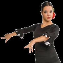 Cuerpo flamenco en pico con manga de 3/4 E4407