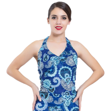 Camiseta para mujer baile flamenco con escote pico E4550
