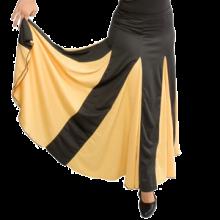 Falda flamenca con nesgas y godés grandes vuelo de capa EF005