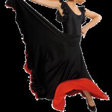 Falda flamenca con canesú y dos volantes EF014