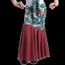 Falda flamenca para niña con canesú en diagonal EF036
