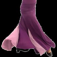 Falda flamenco entallada en cadera baja con dos godés laterales y trasero EF108