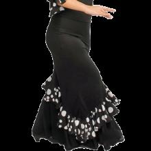 Falda flamenco con trincha entallada a medio muslo y volante en diagonal EF130