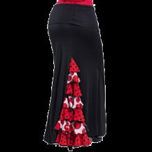 Falda flamenca con 3 godets, 7 volantes en godet trasero EF169