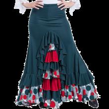 Falda flamenca 3 palas, godet trasero y volantes EF221