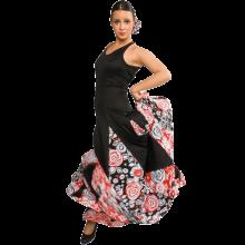 Vestido flamenca escote ovalado y espalda abierta mucho vuelo E4454