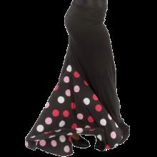 Falda flamenca entallada a medio muslo con godet trasero E3953