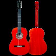 PRUDENCIO SAEZ GUITARRA FLAMENCA MODELO 4 FP rojo brillo (Clavijero Pegheds)