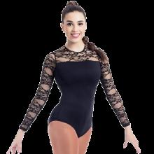 Body flamenco con manga larga y encaje negro 2118S