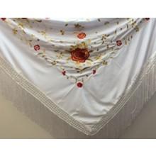 Mantón para baile flamenco de color blanco 23564