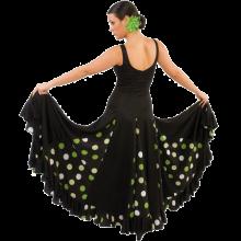 Vestido flamenca con escote de pico y tirante ancho E4079