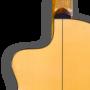 Detalle guitarra flamenca electroacústica cutaway sicomoro 131 Azahar