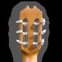 Clavijero trasera Guitarra flamenca artesana Prudencio Sáez modelo 22 ciprés