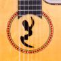 Detalle boca Guitarra Flamenca Artesanal Manuel Rodríguez FF CUT