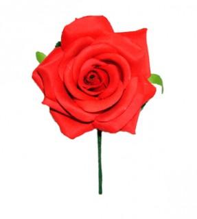 48629 Flor flamenca de tela mediana 120 mm