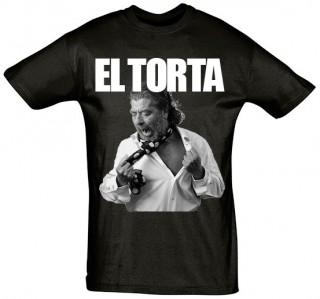Camiseta Hombre Juan Moneo EL TORTA negra