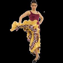 Vestido flamenca con 6 volantes E4503