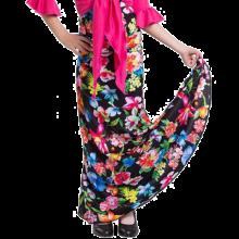 EF271 Falda flamenca para niña sin godet