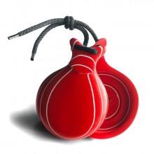 Castañuelas profesionales Vidrio rojo doble caja