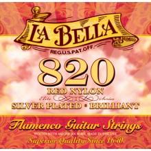 14747 La Bella 820 Flamenco Nylon Rojo. Tensión Media
